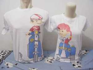 model baju couple vespa-dotted-putih